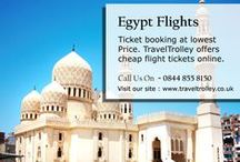 Flights to Egypt / Flight Tickets booking at price match guarantee. TravelTrolley.co.uk offers cheap flight tickets online.