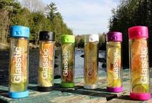 Glasstic Glass Water Bottles / Glasstic Shatterproof Glass Water Bottles are super stylish and make everything you drink taste great - Metal, BPA and toxin free.