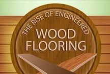 Infographics: Wood Floors / Interesting wood flooring facts presented with aesthetics in mind