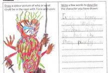 Elm Green Preparatory School CM3 4SU / Free school author visit to Elm Green Prep School CM3 4SU. Great drawings and descriptions in the pre-visit classwork by the children of Years 3 and 4 using my pre-visit Teacher Resource: 'Imagine who or what is in Echo Cave with Tizzie and Louis'.