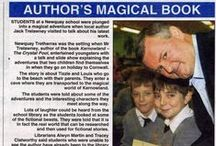 Author's Magical Books - www.jacktrelawny.com / Some newspaper coverage of Jack Trelawny's books and events