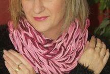 Tour de cou, snood, bonnet au tricot / Créations de tour de cou, snood ou bonnet au tricot