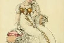 Ackermann's 1812 Fashion Plates / Fashion plates, descriptions, and fabric samples from Ackermann's Repository 1812