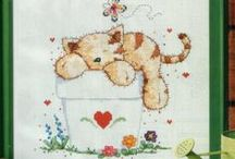 Cat and Dog Cross Stitch