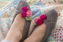 Crochet, Knitt Slippers, Socks, Mittens