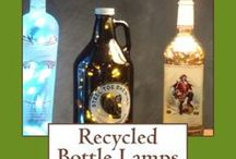 Bottle Lamps / On our blog www.bottle-lamp.com we show you how to make functional lamps out of recycled glass bottles. Watch our videos and get a copy of our new bottle lamps craft book. #bottlelamps #crafts #diy #bottlecrafts