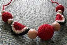Nursing / Teething necklaces / Handmade accessories