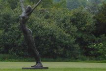 Carol Peace at Coworth Park / Sculpture by Carol Peace at Coworth Park, in Ascot. Changing permanent display of work started Summer 2014
