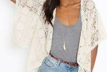 Lace cardigan outfits