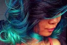 Teal Hair / For mermaid hair we all love and envy.