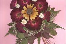Pressed Flower Art / Kompozycje z suszonych kwiatów Dried flowers Pressed flowers