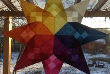 WALDORF WINDOW STARS / Waldorf inspired handcraft, these transparent stars are wonderful on your windows.