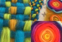 NEMEZINDA BOHO / Boho colorful collection from wool. Bracelets, scarfs, headbands, hairbands, bags, jewllry, earrings.