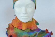 Boho fashion scarfs, jewelry / Boho colorful collection from wool. Bracelets, scarfs, headbands, hairbands, bags, jewelry, earrings.