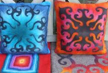 Traditional and modern felted pillows / Wet felted pillows ideas from the world.