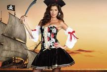 Pirate Party / Whether you're planning a Pirates of the Caribbean fancy dress costume party, hen night or sexy Halloween costume our stunning range of adult ladies pirate costumes will not leave you stranded like a buccaneer or Captain Jack Sparrow on a desert island. We have sexy swashbucklers, pirate wenches and treasure pirates galore.   http://www.sparklingstrawberry.com/