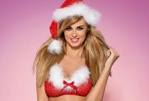 Santa baby... / Make your Christmas fantasies come true or at least put a smile on Santa's face with some sexy Christmas lingerie. From fantasy sets, babydolls and secy chemise, you'll find just what you need to raise the heat on those wintery Christmas nights!
