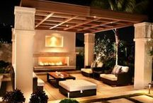 """Outdoor Living / """"I like this place and could willingly waste my time in it.""""  ― William Shakespeare #oudoorliving #porches #pools #parties"""