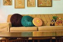 Circle Pillow / Vintage pillow i would like to have