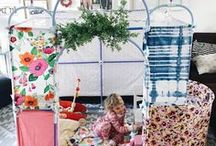Kids Forts & Play Spaces / Creative Ideas for Kids Fort Building & Play Spaces.