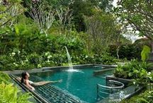 """Luxury Pools / """"Water is the driving force of all nature."""" -Leonardo da Vinci #luxury #pools #outdoorliving"""