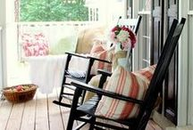 Southern Porches & Patios / The heart of a Southerner's is their porch or patio.