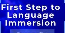 First Step to Language Immersion / Language Immersion ESL, English, Spanish, French. Useful teaching and learning resources for learners and teachers/educators
