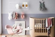 Nursery Decor / Who said babies love bright colors.  We prefer more peaceful spaces with chic decor.