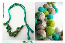 Jewelry: felted / Felted jewelry collection-