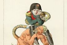 Napoleonic Cartoons / Cartoons & caricatures of Napoleon Bonaparte (old and new) and other caricatures from the Napoleonic period