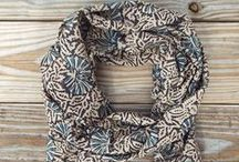 Passion Lilie Accessories / Hand block printed cotton fair trade scarves and tote bags that are made in a 100% ethical manner and printed with eco dyes!