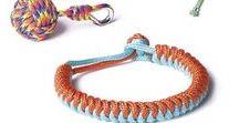 Paracord / Vous connaissez la corde parachute ? Grande tendance de cet hiver 2014, tressez le Paracord façon macramé, nœuds marins ou scoubidous et réalisez vos bracelets, porte-clés....