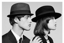 """AFC x The Kooples / The Kooples and ART COMES FIRST join forces to create an exclusive capsule hat collection.  Alexandre, Laurent and Raphaël Elicha have invited the London designers from the """"ACF"""" collective to create two hats for The Kooples : a Fedora and a Pork Pie, one ink black and the other taupe brown.  Discover them in stores and at www.thekooples.com/hat.html"""