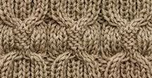 Knitting Aran Cable Stitches / Knitting cable and aran stitches