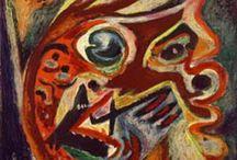 Jackson Pollock / (1912-1956)  Expressionnisme Abstrait