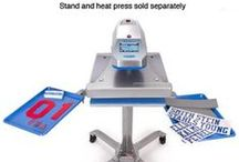 heat press / Love the heat press. It is such a practical tool.  It gets so much use in our studio.