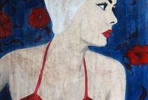 Mes créations : galerie de portraits / Portraits, Acrylique et pigments sur toile (2016-2017)