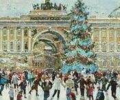 Новогодние открытки_города