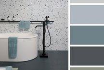 Bathroom: Shades of Blue & green