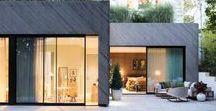 MAISON | Design extérieur / Inspirations de design extérieur de maison. des détails et ambiances à la fois modernes et authentiques. Des Maisons en bois, des styles épurés...