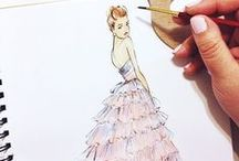 Sketches. / Beautiful fashion sketches by amazing illustrators