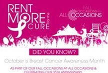 Rent More For The Cure / Breast Cancer Awareness Month-October!
