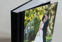 Luster Album / Luster Wedding Album In Black Silk, Custom Photo Cover. #weddingalbum #weddingphotography #milwaukeephotographer