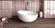 BATH ROOM | styles / Inspirations pour aménager sa salle de bain et ses pièces d'eau dans une ambiance épurée avec des matériaux bruts et naturels