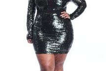 Plus size sequin