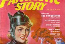 Vintage Sci fi women illustrations.
