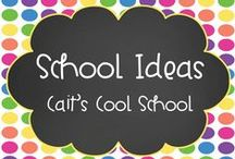 School Ideas- Cait's Cool School / Educational resources for primary and intermediate grades for math, reading, writing (language arts), and classroom management.