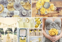 A Gray & Yellow Wedding Theme / I just love the look of grays and yellows together.