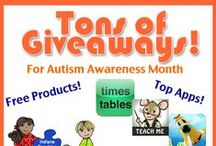 Autism Awareness Month  / Giveaways, reviews and specials during April for Autism Awareness Month.