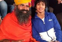 Swami Ramdev  with celebrities / Yoga Guru Swami Ramdev ji with celebrities
